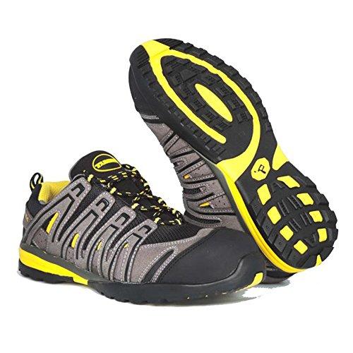 Paredes SP5027 GR43 Helio Chaussures de sécurité S1P Taille 43 Gris/Noir/Jaune