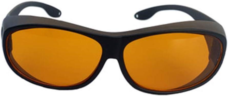 SMAA Gafas de protección médica Dental Profesional OD4 + OD 6+ 190Nm-550nm Longitud de Onda Violeta/Verde Gafas de Seguridad Profesionales para Dispositivos de semiconductores Verdes y UV