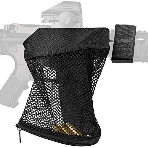 Fyland Brass Shell Catcher - Tactical Cartridge Nylon Collector Net for Range Shooting Reloading (Pure Black) ()