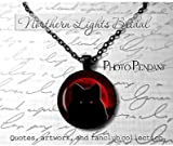 Blood Moon Wolf Necklace Werewolf Jewelry Lycanthrope Necklace Full moon