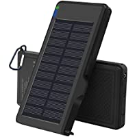 Solar Charger 10000mAh - VIGLT Portable Charger Quick Charge 3.0 Power Bank Solar phone Charger Dual USB Outdoor External Battery Waterproof for iPhone 8 7 7s 6 Plus , Samsung Galaxy S7