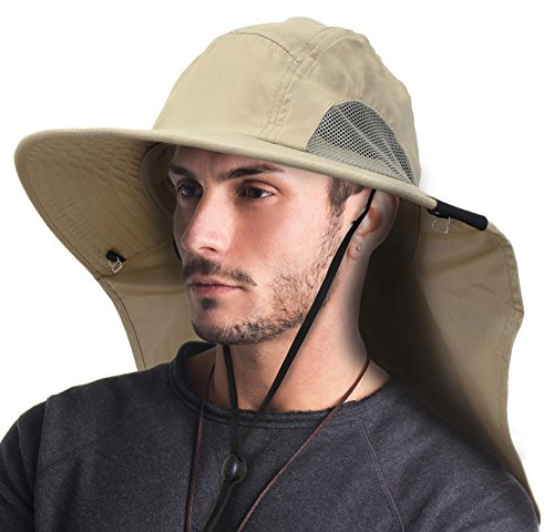 87819bf4 Tirrinia Outdoor Sun Protection Fishing Cap with Neck Flap, - Import It All