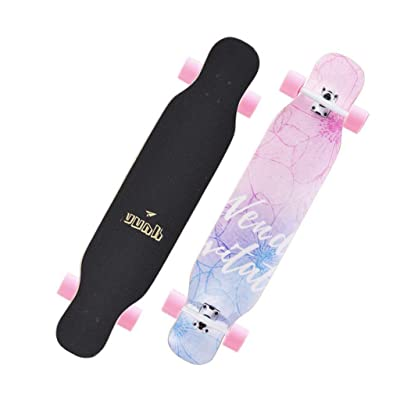Aniseed Skateboards Cruiser Longboard Skateboard Deck Complete Flower Language Double Kick 9.1-Inch X 42.0-Inch : Sports & Outdoors