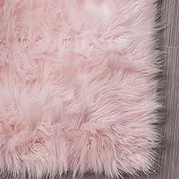 Serene Super Soft Faux Sheepskin Shag Silky Rug Baby...