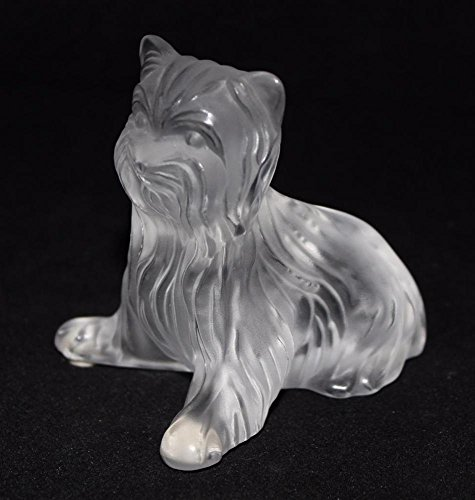 - Lalique Crystal Paperweight, Yorkshire Yorkie Terrier Figurine