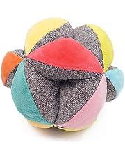 Ludi- Balle de préhension J'apprends à Faire Rouler, Lancer et Attraper Le Ballon   en Tissu Doux Lavable   À partir de 6 Mois, 30039, White