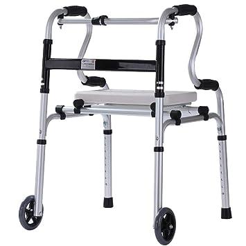 HLZXQZXQ Andador plegable, equipo de rehabilitación para ...