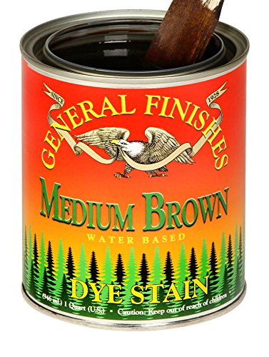 (General Finishes DPM Water Based Dye, 1 Pint, Medium Brown)
