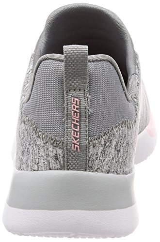 Skechers Womens Dynamight-breakthrough Sneaker Grigio Chiaro Rosa