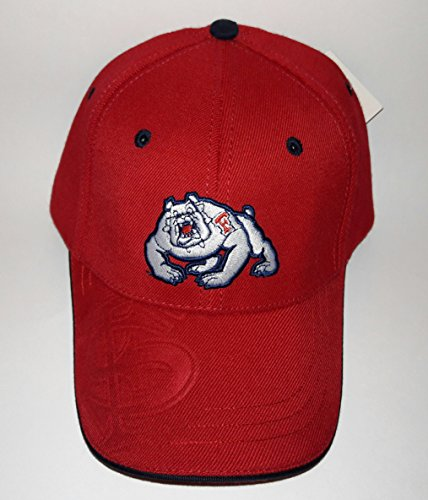 Fresno State Bulldogs 3D Embroidered Hat Flexfit Fitted Cap S/M
