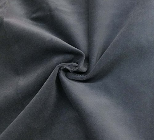 Quality Grey 100% Cotton Velvet Velour Fabric for Upholstery/Drapery/Crafts/Costumes Heavy 16oz Weight Thick Curtain Material Sold by The Yard at 54 inch Wide