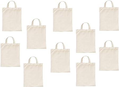 10 bolsas de algodón pequeñas de 22 x 26 cm – Bolsa de yute – Bolsa de farmacia
