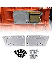 Ruien Aluminum Alloy Engine Swap Bracket SBC LS Conversion Motor Mount Adjustable Plate Compatible with Chevy 5.7L 350 to LS1 Retro Fit Kit LS Motor Mount Adapter