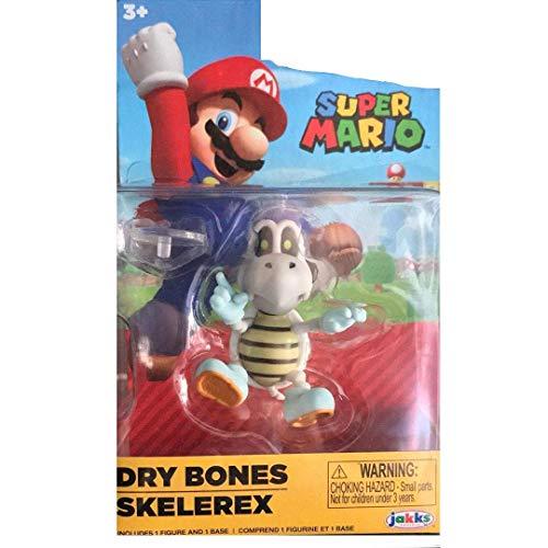 Super Mario Miniature 2.5 inch Dry Bones Action Figure Skelerex World of Nintendo