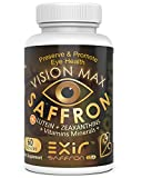Cheap Vision Max, Saffron Plus + Lutein, Zeaxanthin, Meso Zeaxantin, Grape Seed Extract with AREDS2 Vitamin Minerals, Beta-carotene free 60 Capsules | Potent Unique Supplement Eye & Vision