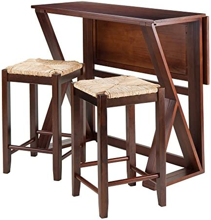 Winsome 3-Piece Harrington Drop Leaf High Table