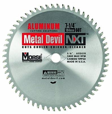 1.MK Morse CSM72560NAC Metal Devil Circular Saw Blade