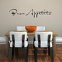 Bon Appetit Wall Decal For Kitchen or restaurant Vinyl quotes art(Black,m)