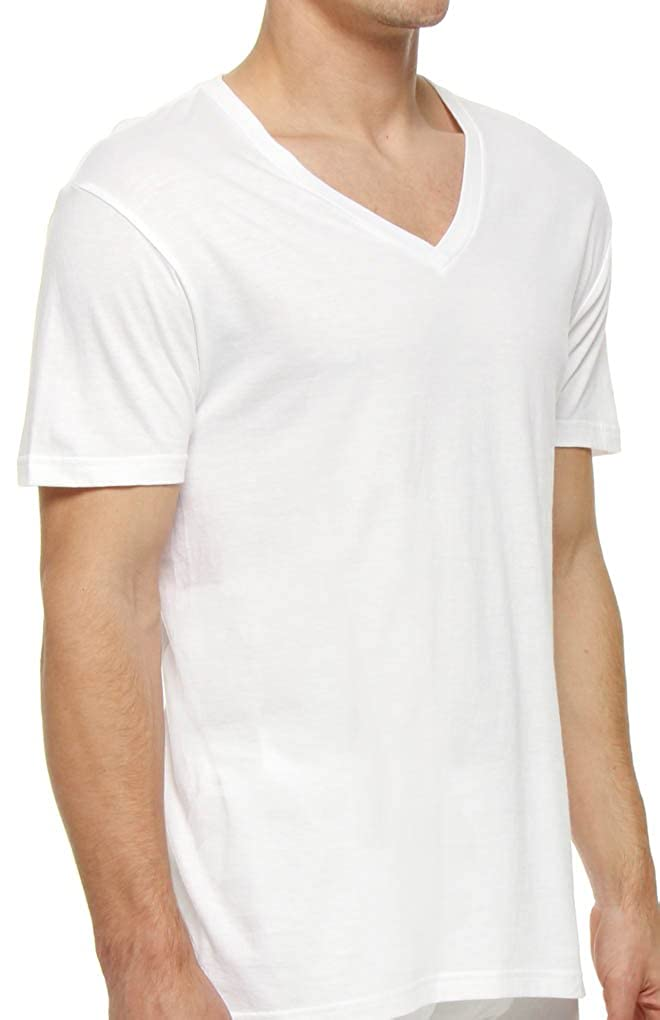 46af9b29 Polo Ralph Lauren Classic Fit V-Neck T-Shirts-3 Pack White-Small at Amazon  Men's Clothing store: Undershirts