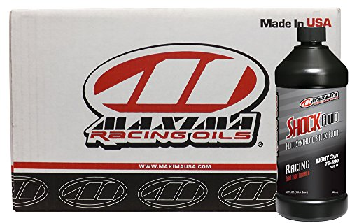 Maxima Racing Oils CS50-57901-12PK-12PK 3W Medium Synthetic Racing Shock Fluid - 12 quart, (Pack of 12) by Maxima