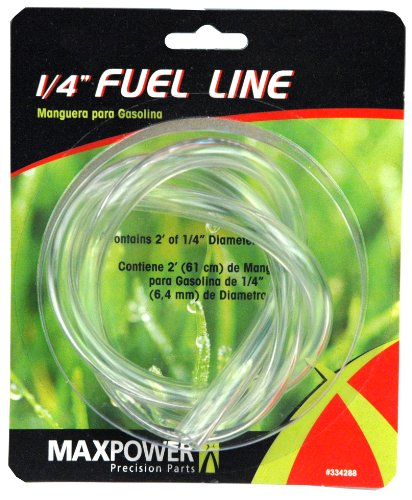 Maxpower 334288 1/4 Inch Clear Fuel Line, 2 Foot Length