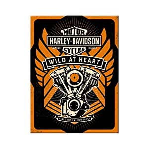 Nostalgic Art 143477 Harley Davidson wild at heart print magnet