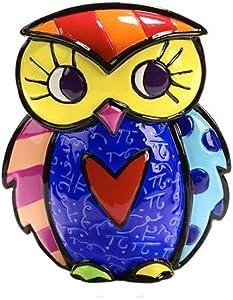 Romero Britto Giftcraft Mini Owl Figurine, Ceramic, Multicoloured, One Size