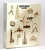 Chicago Illinois Embossed Photo Album 200 Photos / 4x6