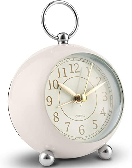 Vintage Retro Classic Analog Alarm Clock Bedroom Bedside Battery Operated Loud