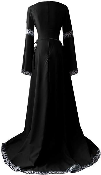 BaZhaHei Vestidos de Mujer Falda Vestido Medieval de Las Mujer ...
