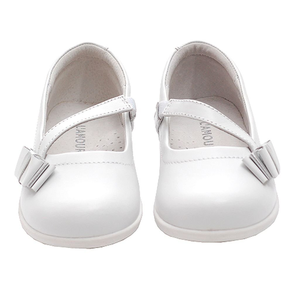 IM Link White Bow Mary Jane Style Strap Shoes Toddler 5-Little Girls 2