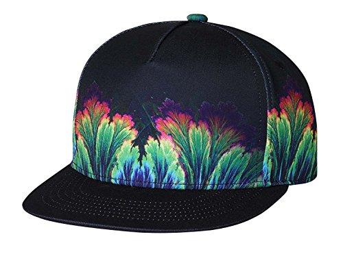 NUZADA Baseball Cap Unisex Hip Hop Snapback Flat Brim Hats Adjustable  Closure 7e7fe6a3f9e