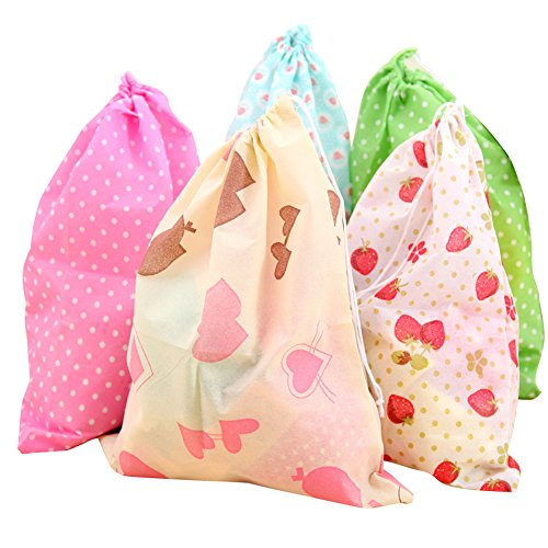 (Dust-Proof Non-Woven Drawstring Portable Storage Bag Dress Shoes Bags Pouches Case Package Set of 10)