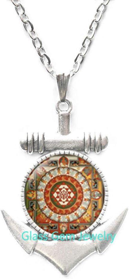 Spiritual Locket Necklace Buddhist Locket Necklace Buddhist Mandala Locket Pendant Buddhist mandala Sacred geometry jewelry geometric Locket Necklace ,Q0203