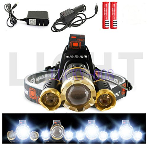CREE 30000LM Zoom XML 3X T6 LED Headlamp Headlight 18650 Flashlight Torch Lamp