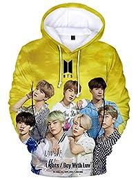 YIMIAO Unisex BTS Fans Hoodie 3D Print Bangtan Boys World Tour Pullover Cool Kpop Fashion Sweatshirt
