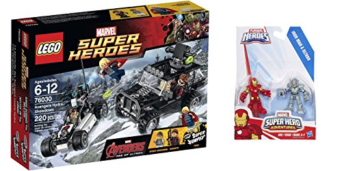LEGO Super Heroes Avengers Hydra Showdown 220 Pcs & free Gifts Super Hero Adventures Iron Man and Ultron Figures (Colors may vary) Toys (Lego Avengers 2 Sets compare prices)