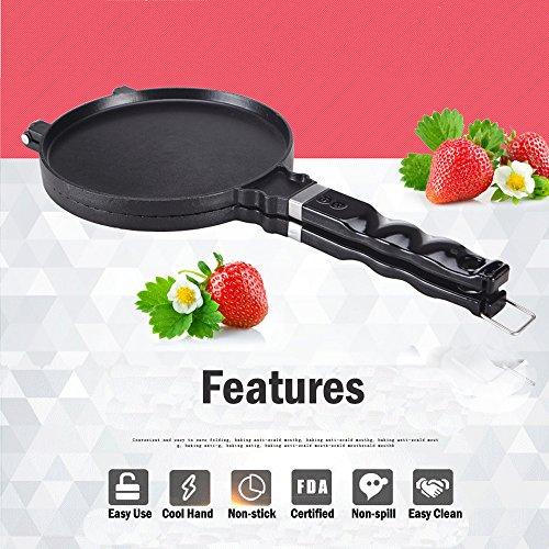 Waffle Maker Pan Roll Machine Non-Stick Pan (Black) - 7