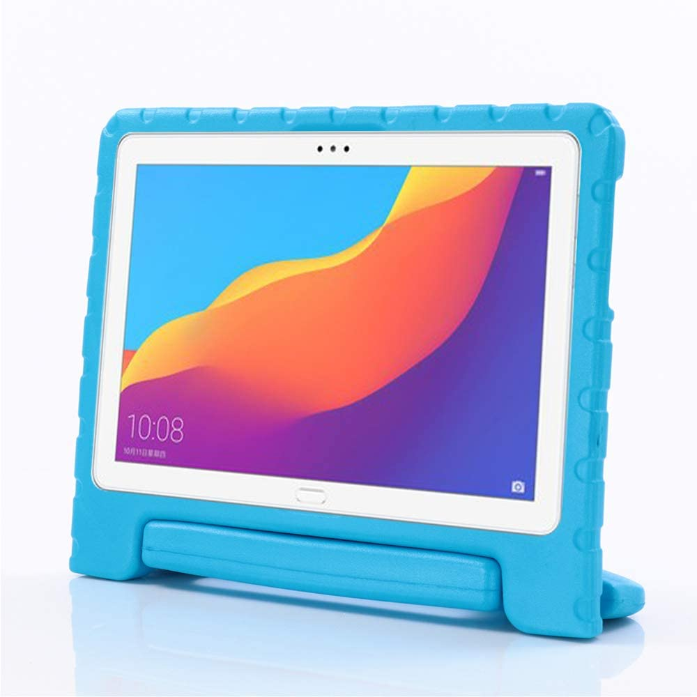 i-original Compatible with Huawei MediaPad T5 10 10.1-in Case,Shock Proof Huawei Honor Play Pad 5 EVA Case for Kids Bumper Cover Handle Stand,Convertible Handle Lightweight Protective Cover (Blue)