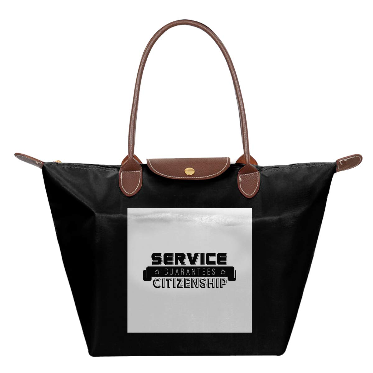 Starship Troopers Service Guarantees Citizenship Waterproof Leather Folded Messenger Nylon Bag Travel Tote Hopping Folding School Handbags