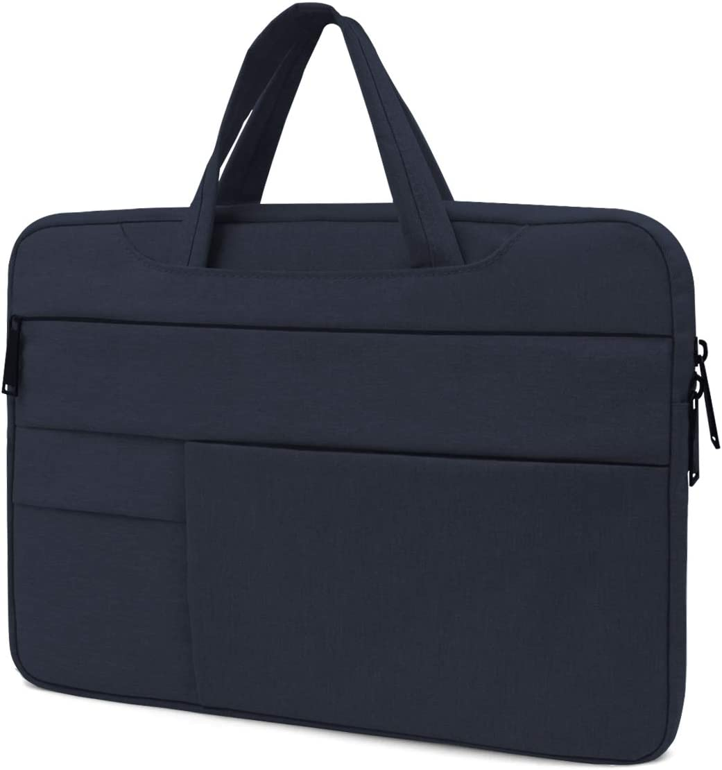 Lesige 13 inch Protective Laptop Sleeve Case, Slim Briefcase Handle Bag with 6 Extra Pockets for 13.3 inch MacBook Pro, MacBook Air, HP/Samsung/Asus/Dell/Acer/Chromebook/Notebook/Ultrabook, Navy Blue