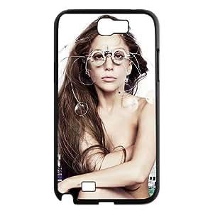 Custom Protective Hard Plastic Case for Samsung Galaxy Note 2 N7100 - Lady Gaga diy case at CHXTT-C