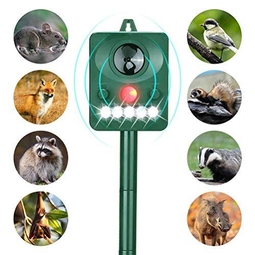 Wonninek Solar Animal Repeller, Ultrasonic Animal Repellent