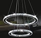 Chandeliers Ceiling Lights Tenlion Crystal Chandelier Padent Lamp Celling Light 40cm*60cm Neutral White