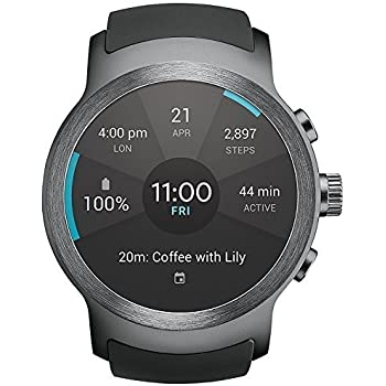 LG Watch Sport Wi-Fi + Unlocked GSM Smartwatch w/ 1.38-inch P-OLED Display - Titan/Silver