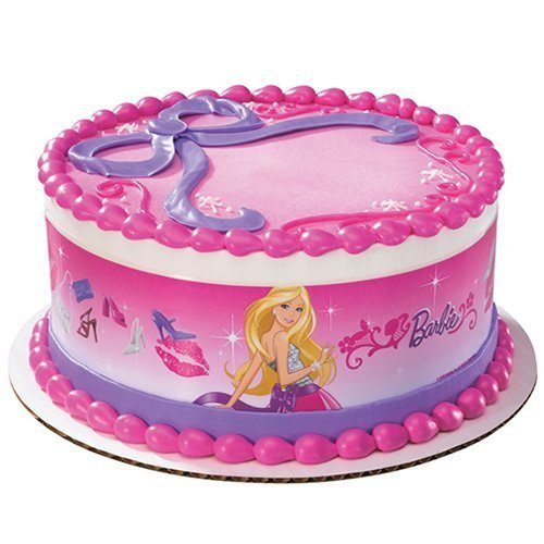 Barbie Fabulous Designer Prints Edible Cake Image