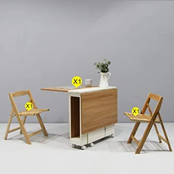 Amazon.com : KXBYMXSimple Folding Table Folding Table ...
