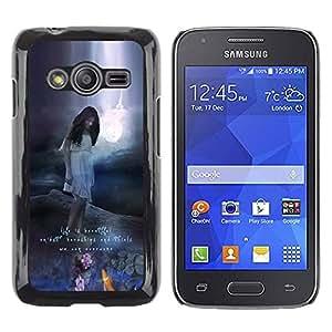 rígido protector delgado Shell Prima Delgada Casa Carcasa Funda Case Bandera Cover Armor para Samsung Galaxy Ace 4 G313 SM-G313F /Beautiful Text Motivational Nature/ STRONG