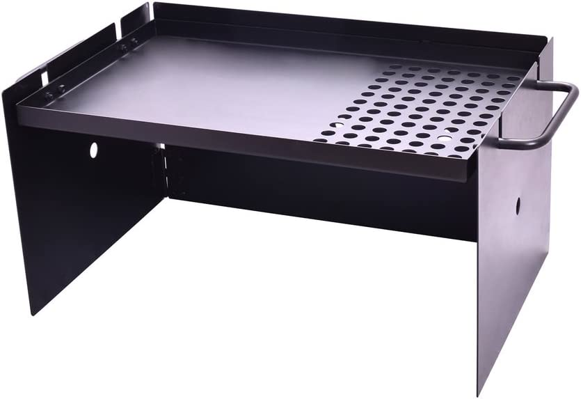 Oztrail - Parrilla portátil con paraviento OCF-FPCW-D Flat Plate ...