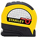 Stanley STHT33281 Lever Lock Tape Rule with Magnetic Tip, 25' x 1''